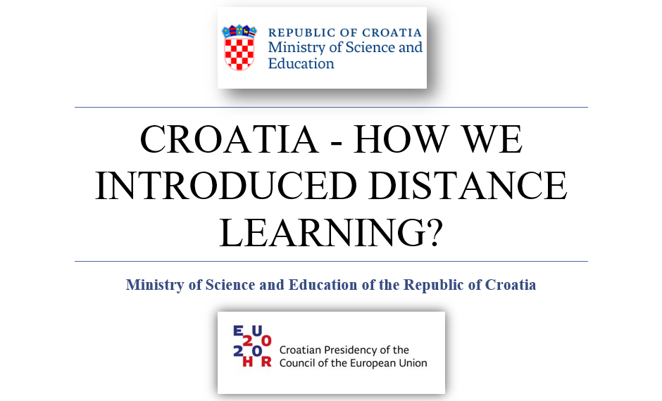 Croatia – how we introduced distance learning?