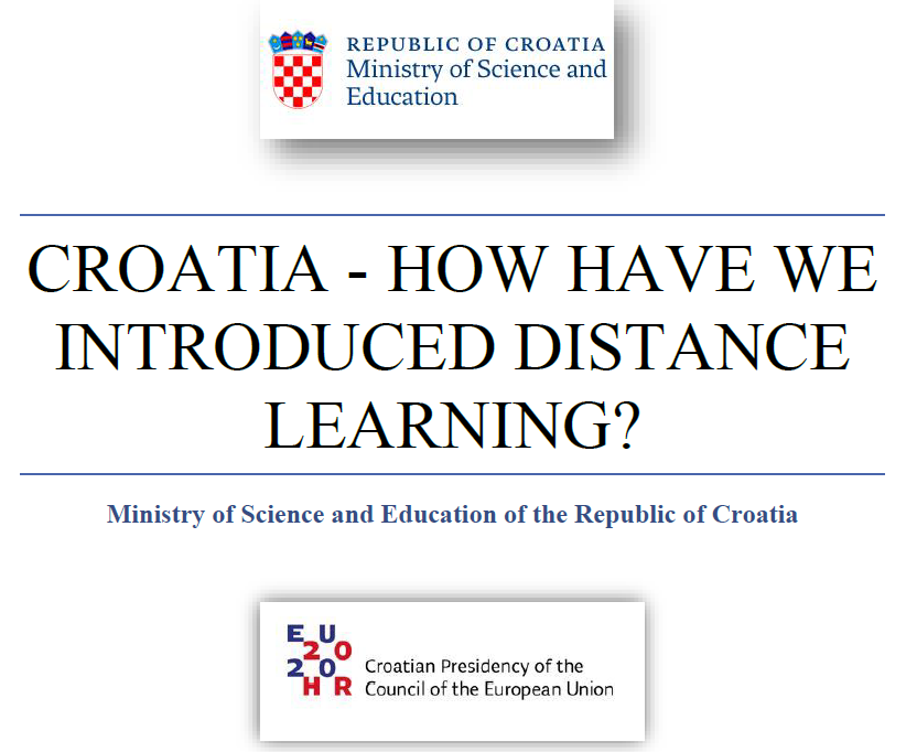 Croatia – how have we introduced distance learning?