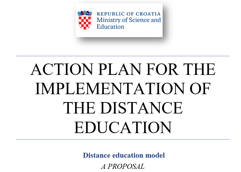 Action plan for the implementation of the distance education